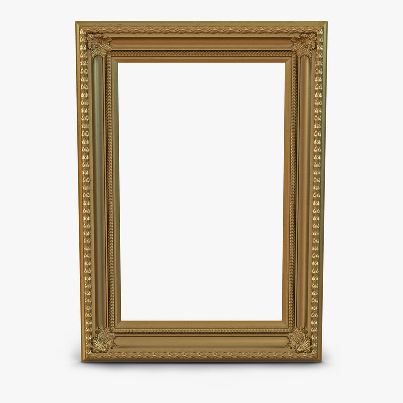 Baroque Picture Frame 3d model 00.jpg