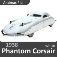 3d model 1938 phantom corsair white