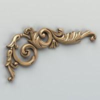 3d carved corner decor
