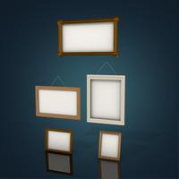 3d model picture frames