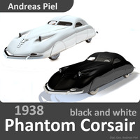 3d model 1938 phantom corsair black
