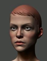 obj girl head