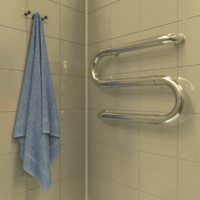 bathroom towel 3d blend