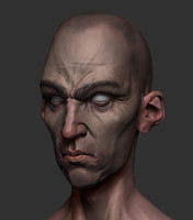 3d model stylized head