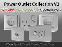 3d model power outlet v2