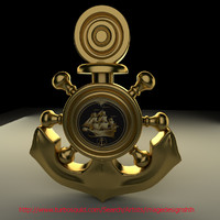 3ds max gold anchor