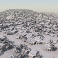 3d model shanty slum mass modeled