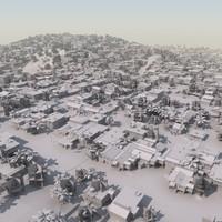 3d model shanty slum mass modeled