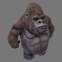 3d gorilla hair