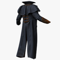 3d model of male coat