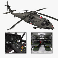 purchase hh-60m medevac helicopter 3d xsi