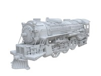 train engine 3d 3ds