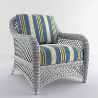 3d white wicker chair model