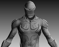 zbrush sci-fi character 3d model