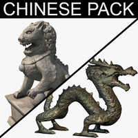 Chinese statues pack