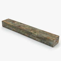 old wood log 3d 3ds