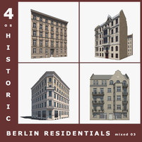 4 historic berlin residentials 3d model