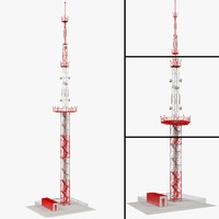 3d model of towers communication