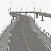 road highways sample scene 3ds