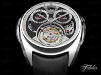 akrivia tourbillon monopusher chronograph 3d model