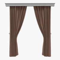 curtain 7 brown 3ds