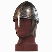 saxon helmet 3d model