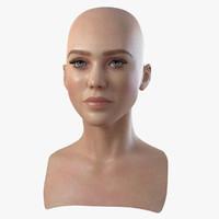 3d model head woman 1