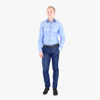 3d model businessman fullbody scan