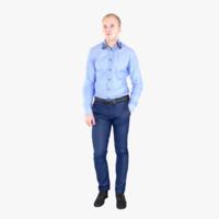 businessman fullbody scan 3d max
