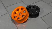 wheel tornade rim 3d 3ds