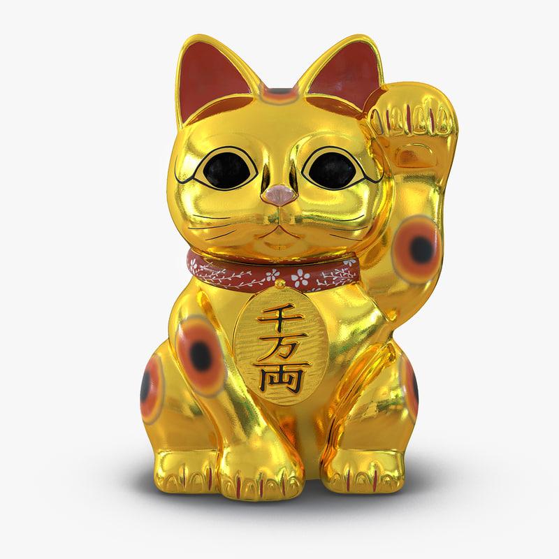Maneki Neko Golden 3d model 00.jpg