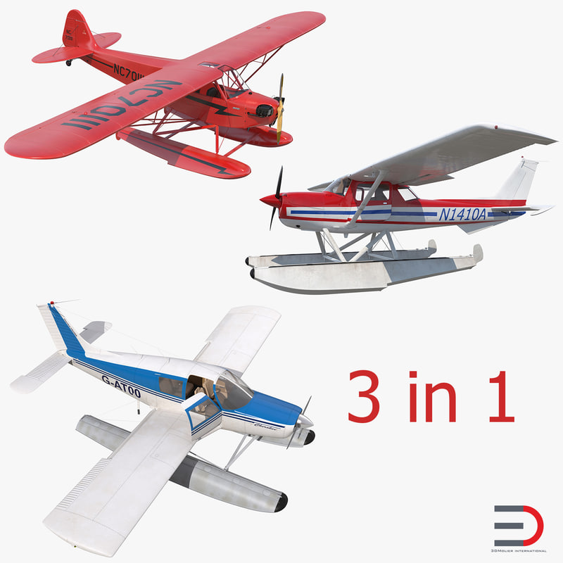 Seaplanes Rigged Collection 3d model 000.jpg