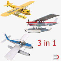 3d model seaplanes light aircraft
