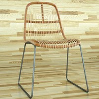 nadine rattan chair obj