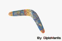 3d boomerang games model