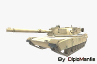 american battle tank m1a1 abrams 3ds