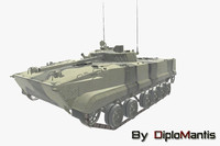 bmp-3 infantry vehicle 3d max