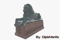 lion statue 3d max