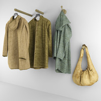3d coat hanger bag model