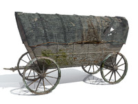 3d model wild west waggon