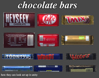 chocolate bars obj