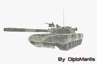 3d soviet tank t-90 model