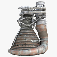 f-1 rocket engine 2 3d 3ds