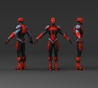 cyborg spider man hd 3d max