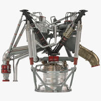 rs-68 rocket engine 3d c4d