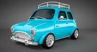 mini toon car 3d obj