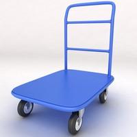3d medical luggage equipment trolley
