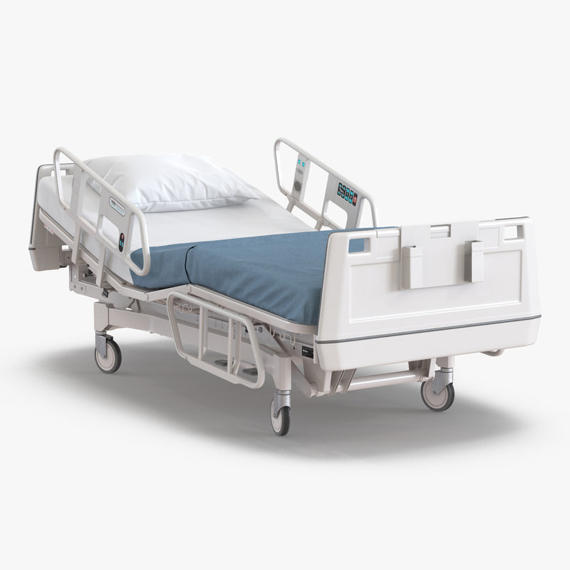 Hospital Bed Rigged 3d model 00.jpg