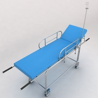 3d model of hospital stretcher bed equipment
