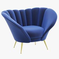 3d model brabbu andes armchair